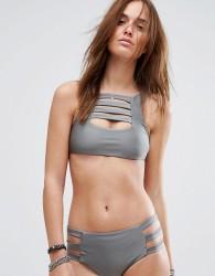 Evil Twin Misty Bikini Top - Grey