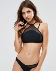 Evil Twin Strappy Bikini Crop Top - Black