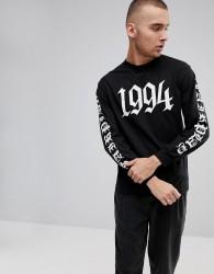 Fairplay 1994 Long Sleeve T-Shirt With Back Print - Black