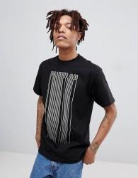 Fairplay barcode print t-shirt in black - Black