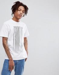 Fairplay barcode print t-shirt in white - White