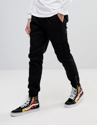 Fairplay Cargo Joggers In Skinny Fit - Black