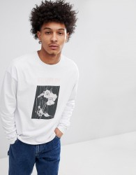 Fairplay Ends Long Sleeve T-Shirt In White - White