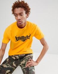 Fairplay flame logo print t-shirt in yellow - Yellow