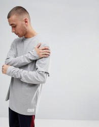 Fairplay Oversized Layered Long Sleeve T-Shirt in Grey - Grey