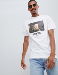 Fairplay prophecy chest print t-shirt in white - White