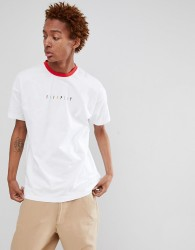Fairplay rainbow logo ringer t-shirt in white - White