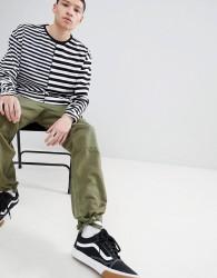 Fairplay Rakim Contrast Stripe Long Sleeve T-Shirt - Black