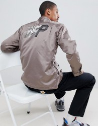 Fairplay Satin Coach Jacket With Back Print - Grey