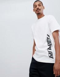 Fairplay sneek peek side print t-shirt in white - White