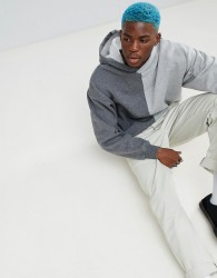 Fairplay Split Hoodie With Small Logo - Grey