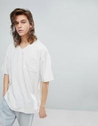 Fairplay Striped Baseball Shirt - White
