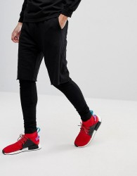 Fairplay Terry Leggings With Short Layer - Black