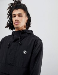 Fairplay Tillman Overhead Jacket With Back Print In Black - Black