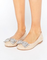 Faith Ackley Embellished Flat Shoes - Beige