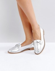 Faith Adele Metallic Loafers - Silver