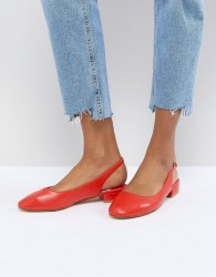 Faith Amelia Red Sling Back Ballet Shoes - Red