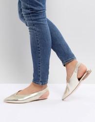 Faith Annike Pointed Flat Shoes - Gold