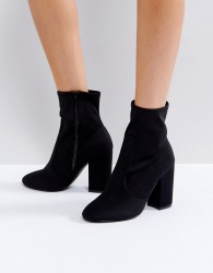 Faith Bambi Heeled Boots - Black