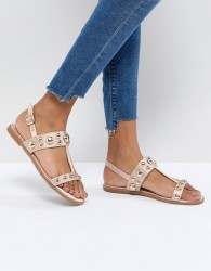 Faith Baubles Flat Sandals - Beige