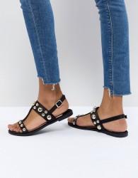 Faith Baubles Flat Sandals - Black