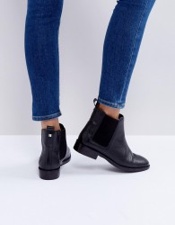 Faith Binkie Leather Chelsea Boots - Black
