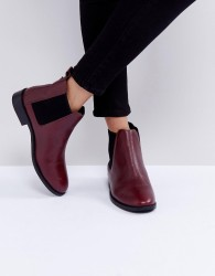Faith Binkie Oxblood Leather Chelsea Boots - Red