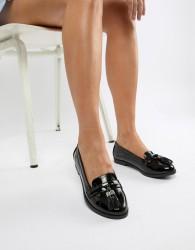 Faith Black Patent Attie Loafer - Black