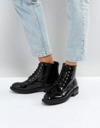 Faith Brent Lace Up Boots - Black