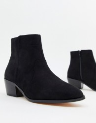 Faith Bull western heeled ankle boots in black - Black