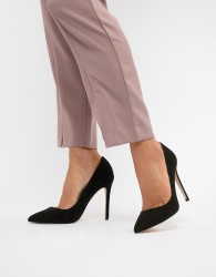 Faith Chloe Black Pointed Heeled Shoes - Black