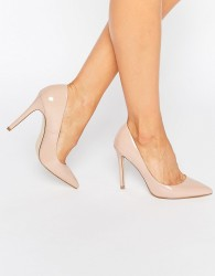 Faith Chloe Pointed Court Shoes - Beige