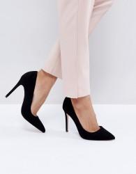Faith Chloe Pointed Court Shoes - Black