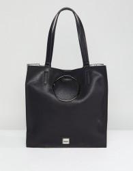 Faith Circle Detail Tote Bag - Black