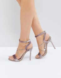 Faith Dana Strap Heeled Sandals - Beige