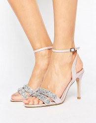 Faith Dash Embellished Heeled Sandals - Pink