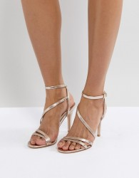 Faith Delly Rose Gold Heeled Sandals - Gold