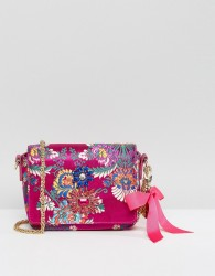 Faith Embroidered Cross Body Bag - Pink