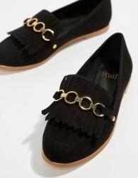Faith Fringe Chain Loafer - Black