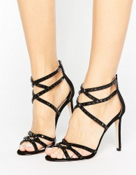 Faith Leigh Embellished Strappy Heeled Sandals - Black