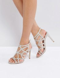 Faith Lisbon Cage Heeled Sandals - Gold