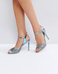 Faith Metallic Knot Sandals - Blue