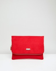 Faith Pring Foldover Clutch Bag - Red