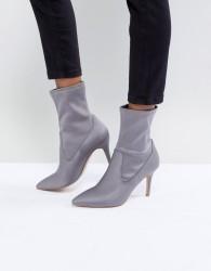 Faith Pull On Sock Boot in Grey - Grey