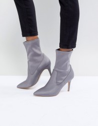 Faith Pull On Sock Boot in Grey - Grey