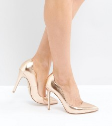 Faith Rose Gold Court Shoes - Gold