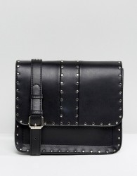 Faith Studded Cross Body Bag - Black
