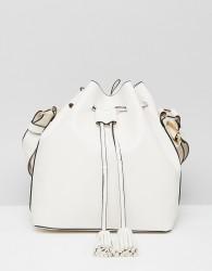 Faith White Duffle Cross Body Bag - White