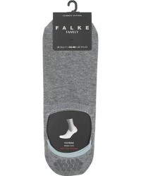 Falke Casual High Cut Sneaker Sock Light Grey Melange men 39-42 Grå