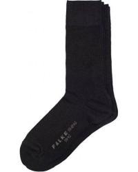 Falke Swing 2-Pack Socks Black men 39-42 Sort